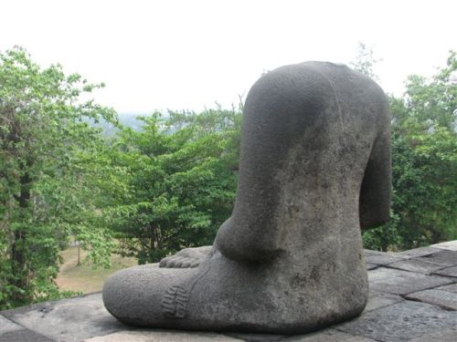 Decapitated Buddha: Borobudur